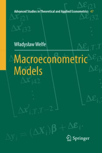 9783642440144: Macroeconometric Models (Advanced Studies in Theoretical and Applied Econometrics)