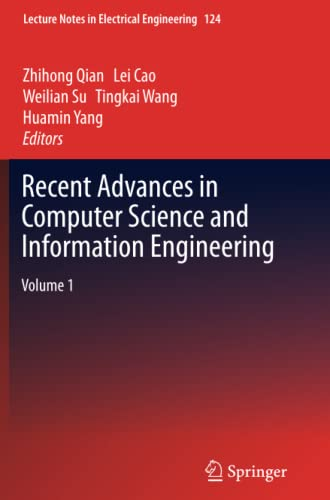 9783642442728: Recent Advances in Computer Science and Information Engineering
