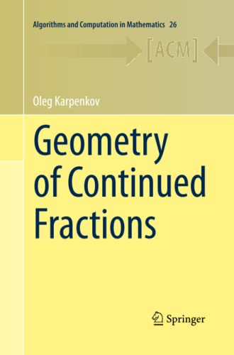 9783642444241: Geometry of Continued Fractions (Algorithms and Computation in Mathematics)