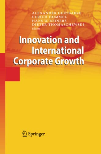 9783642445293: Innovation and International Corporate Growth