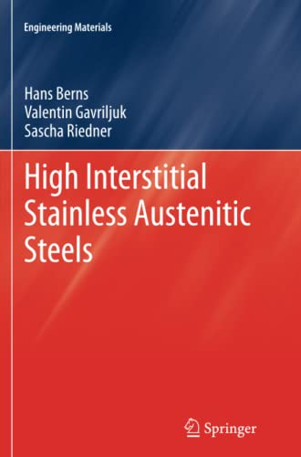 9783642446719: High Interstitial Stainless Austenitic Steels (Engineering Materials)