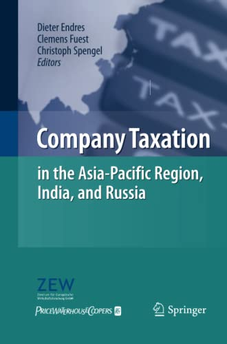 9783642447327: Company Taxation in the Asia-Pacific Region, India, and Russia