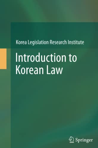 9783642448805: Introduction to Korean Law