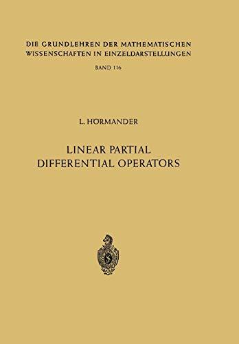 Linear Partial Differential Operators: LARS HÃ RMANDER