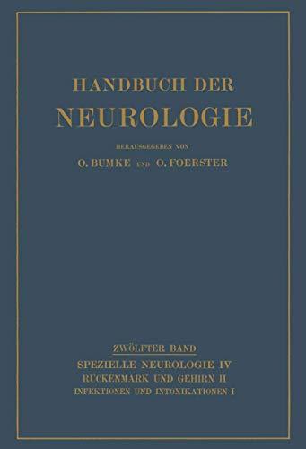 9783642471704: Infektionen und Intoxikationen: Erster Teil (Handbuch der Neurologie)