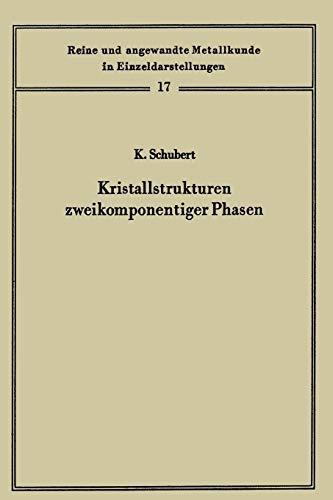 Kristallstrukturen zweikomponentiger Phasen: Schubert, Konrad