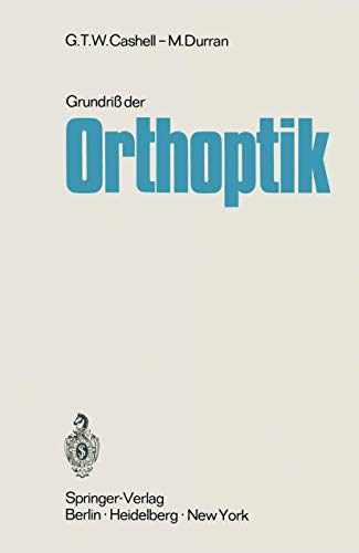 9783642492198: Grundriß der Orthoptik (German Edition)