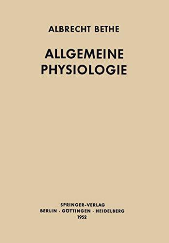 9783642494642: Allgemeine Physiologie