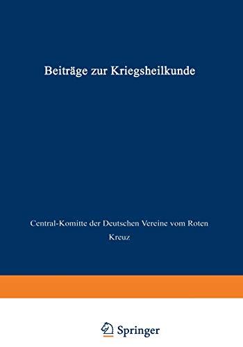9783642519208: Beiträge zur Kriegsheilkunde (German Edition)