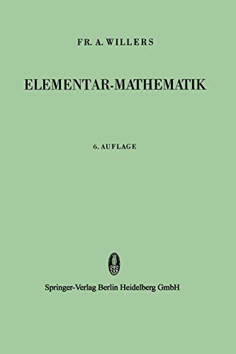 9783642520242: Elementar-Mathematik: Ein Vorkurs zur Höheren Mathematik (German Edition)