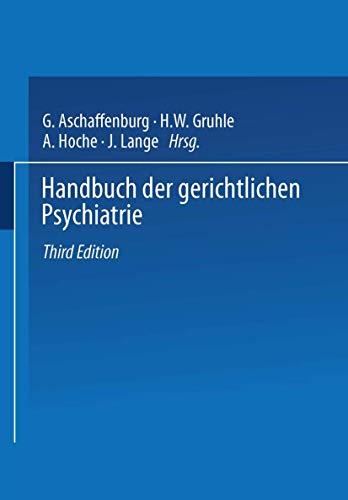 9783642525575: Handbuch der Gerichtlichen Psychiatrie (German Edition)
