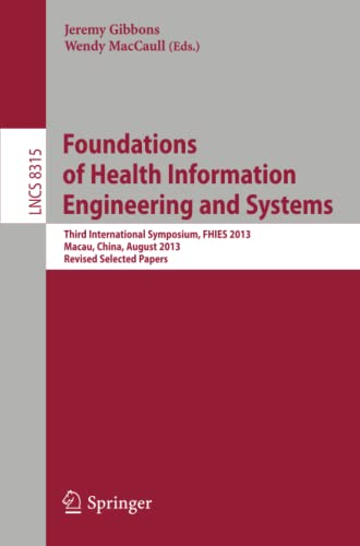 Foundations of Health Information Engineering and Systems: Jeremy Gibbons