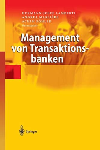 9783642622571: Management von Transaktionsbanken