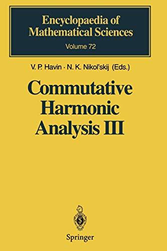 Commutative Harmonic Analysis III: Generalized Functions. Application