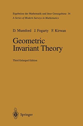 9783642634000: Geometric Invariant Theory (Ergebnisse der Mathematik und ihrer Grenzgebiete. 2. Folge)