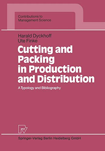 9783642634871: Cutting and Packing in Production and Distribution: A Typology and Bibliography (Contributions to Management Science)