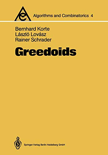 9783642634994: Greedoids (Algorithms and Combinatorics)