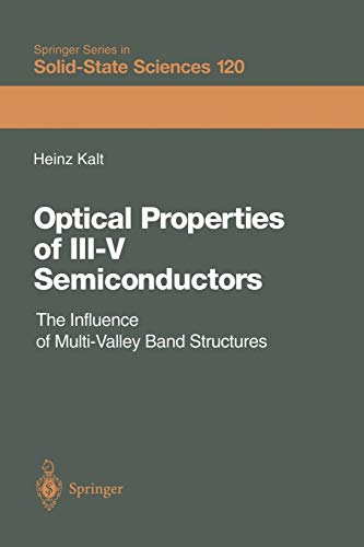 9783642635274: Optical Properties of III-V Semiconductors: The Influence of Multi-Valley Band Structures (Springer Series in Solid-State Sciences)