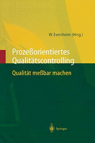 9783642638398: Prozeßorientiertes Qualitätscontrolling: Qualität meßbar machen
