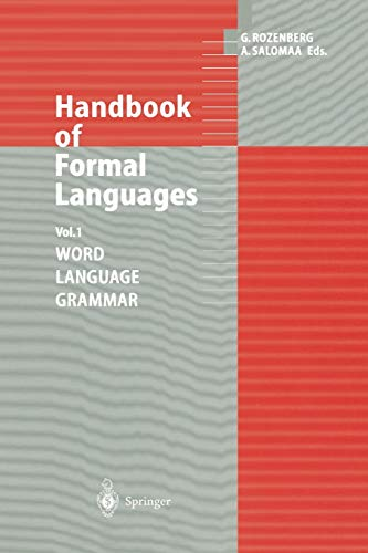 9783642638633: Handbook of Formal Languages: Volume 1 Word, Language, Grammar
