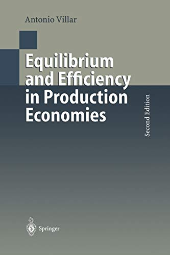 9783642640766: Equilibrium and Efficiency in Production Economies