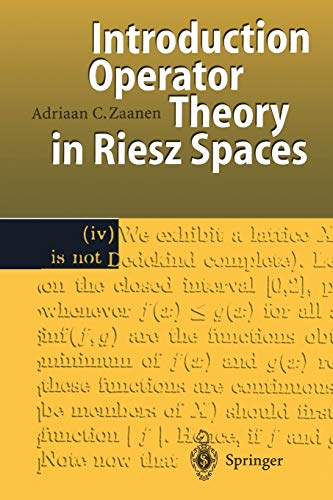 9783642644870: Introduction to Operator Theory in Riesz Spaces