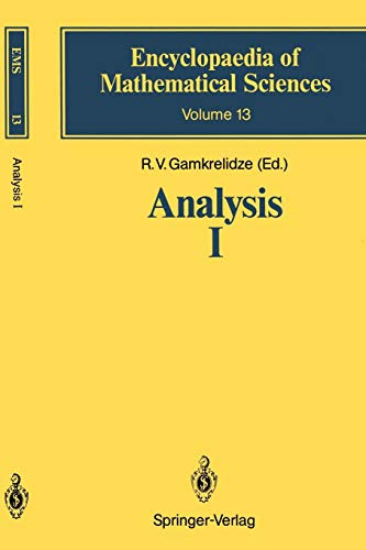 9783642647864: Analysis I: Integral Representations and Asymptotic Methods (Encyclopaedia of Mathematical Sciences)