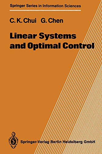 9783642647871: Linear Systems and Optimal Control