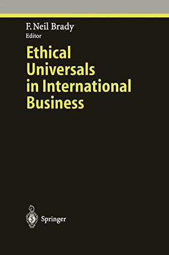 Ethical Universals in International Business (Ethical Economy): Springer