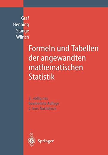 9783642648762: Formeln und Tabellen der angewandten mathematischen Statistik (German Edition)