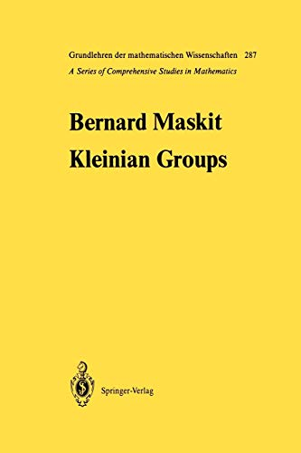 9783642648786: Kleinian Groups (Grundlehren der mathematischen Wissenschaften)
