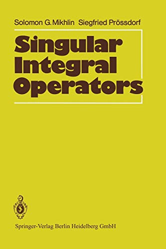 9783642648922: Singular Integral Operators
