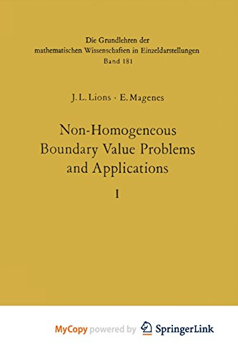9783642651625: Non-Homogeneous Boundary Value Problems and Applications: Vol. 1