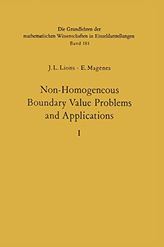9783642651632: Non-Homogeneous Boundary Value Problems and Applications: Vol. 1 (Grundlehren der mathematischen Wissenschaften)