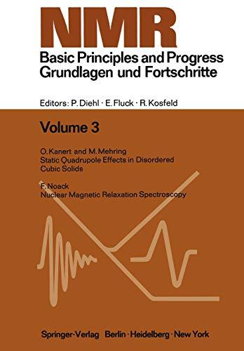 9783642651823: NMR Basic Principles and Progress / NMR Grundlagen und Fortschritte