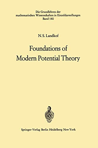 Foundations of Modern Potential Theory: Landkof, Naum S.