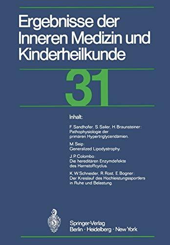 9783642652141: Ergebnisse der Inneren Medizin und Kinderheilkunde (Ergebnisse der Inneren Medizin und Kinderheilkunde. Neue Folge Advances in Internal Medicine and Pediatrics) (German and English Edition)