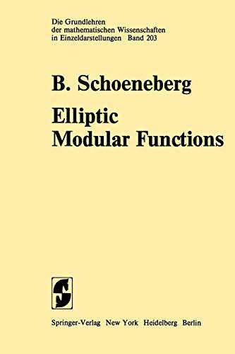 9783642656651: Elliptic Modular Functions: An Introduction (Grundlehren der mathematischen Wissenschaften)