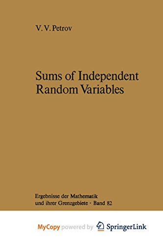 9783642658105: Sums of Independent Random Variables