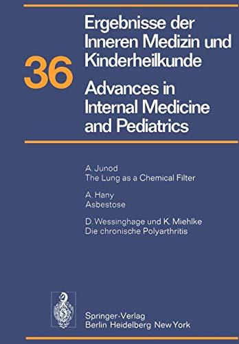 9783642658990: Ergebnisse der Inneren Medizin und Kinderheilkunde / Advances in Internal Medicine and Pediatrics: Neue Folge (Ergebnisse der Inneren Medizin und ... Advances in Internal Medicine and Pediatrics)