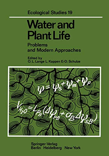 Water and Plant Life: Problems and Modern Approaches
