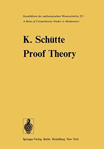 9783642664755: Proof Theory (Grundlehren der mathematischen Wissenschaften)