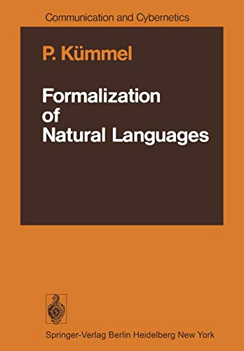 9783642666674: Formalization of Natural Languages (Communication and Cybernetics)