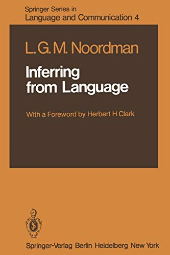 Inferring from Language (Springer Series in Language: L. G. M.
