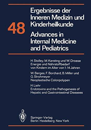 9783642683084: Ergebnisse der Inneren Medizin und Kinderheilkunde/Advances in Internal Medicine and Pediatrics: Neue Folge (Ergebnisse der Inneren Medizin und ... Advances in Internal Medicine and Pediatrics)