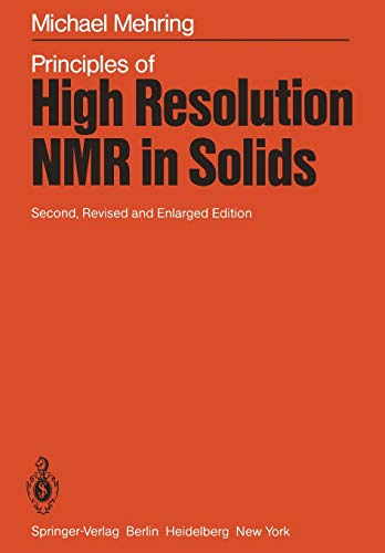 9783642687587: Principles of High Resolution NMR in Solids