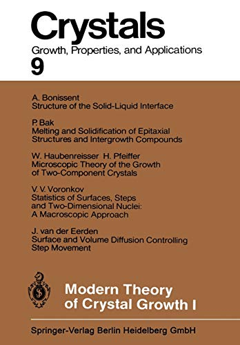 9783642689406: Modern Theory of Crystal Growth I (Crystals)