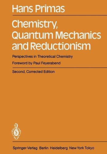9783642693670: Chemistry, Quantum Mechanics and Reductionism: Perspectives in Theoretical Chemistry