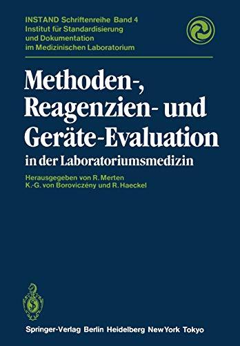 9783642697999: Methoden-, Reagenzien- und Geräte-Evaluation in der Laboratoriumsmedizin (INSTAND-Schriftenreihe)