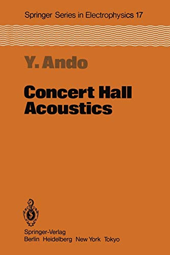 Concert Hall Acoustics (Springer Series in Electronics and Photonics): Yoichi Ando